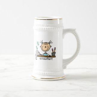 Figura del palillo del contable taza de café
