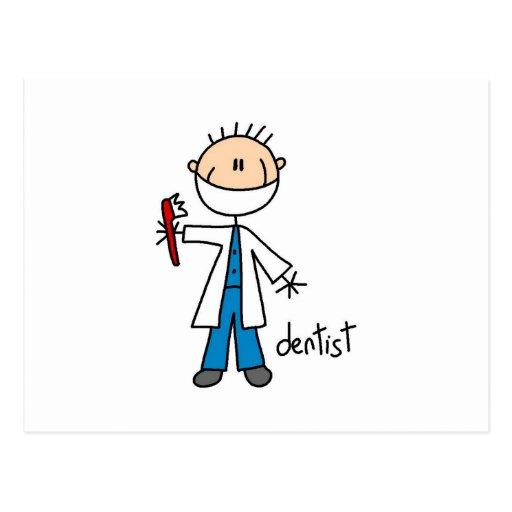 Figura del palillo del dentista tarjeta postal