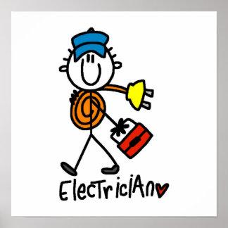 Figura del palillo del electricista posters