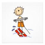 Figura del palillo del esquí acuático comunicados personalizados