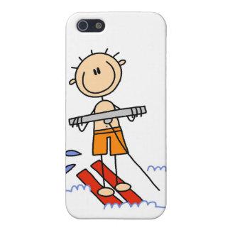 Figura del palillo del esquí acuático iPhone 5 carcasas