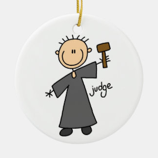Figura del palillo del juez adornos de navidad