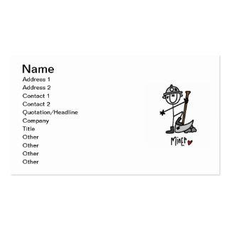 Figura del palillo del minero tarjetas de visita