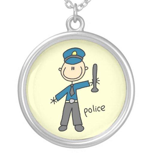 Figura del palillo del oficial de policía joyerias