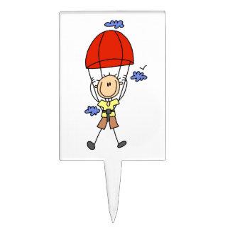 Figura del palillo del paracaidismo figura para tarta