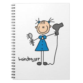 Figura del palillo del peluquero cuaderno
