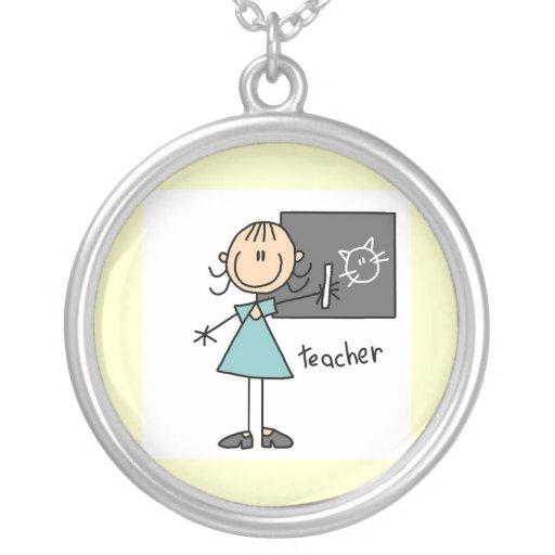 Figura del palillo del profesor colgantes personalizados