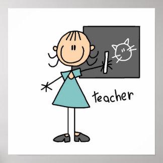 Figura del palillo del profesor impresiones
