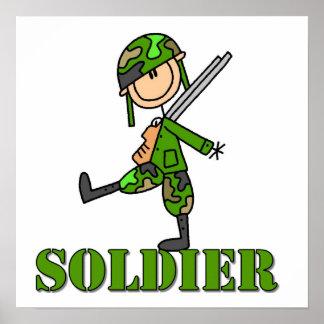 Figura del palillo del soldado impresiones