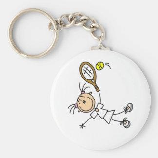 Figura del palillo del tenis llavero