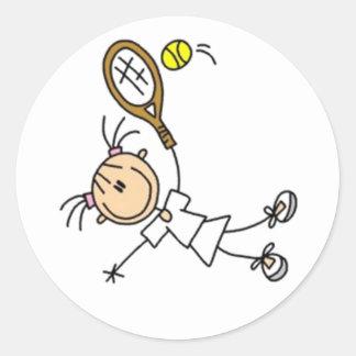 Figura del palillo del tenis pegatina