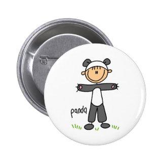Figura del palillo en botón del juego de la panda