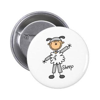 Figura del palillo en botón del juego de las oveja