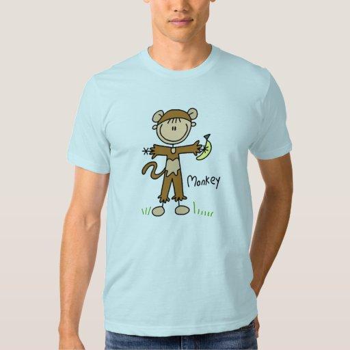 Figura del palillo en camisa del juego de mono