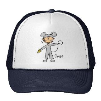 Figura del palillo en gorra del juego del ratón