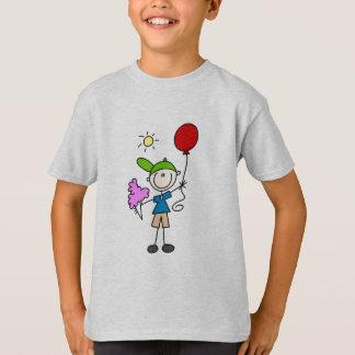 Figura del palillo en las camisetas y los regalos playeras