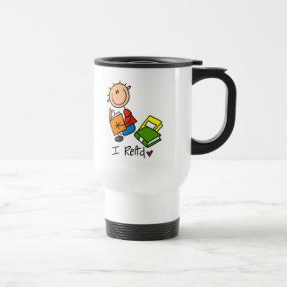 Figura del palillo leí la taza/la taza del viaje