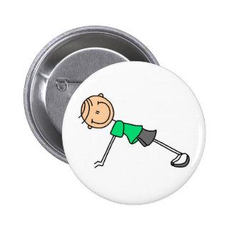 Figura del palillo que ejercita el botón pin redondo de 2 pulgadas