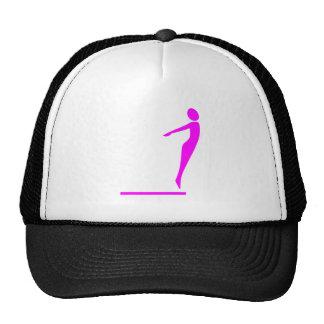 Figura del salto - magenta gorra