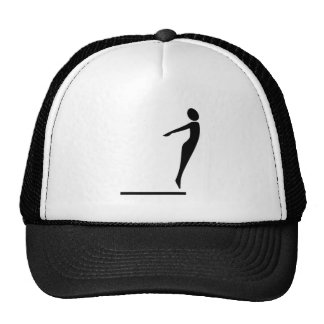Figura del salto - negro gorras