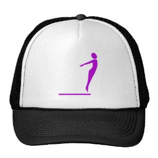 Figura del salto - púrpura gorras