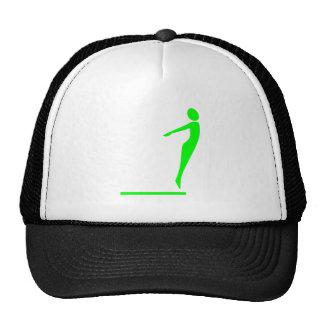 Figura del salto - verde gorra