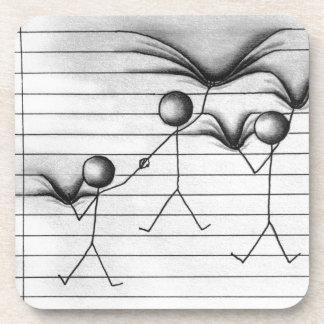 Figura dibujo del palillo del colgante en líneas posavasos