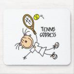 Figura diosa Mousepad del palillo del tenis Tapete De Ratón