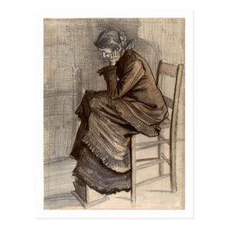 Figura doblada de una mujer, Vincent van Gogh Tarjeta Postal