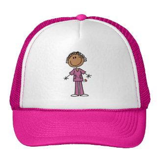 Figura femenina afroamericana enfermera del gorras