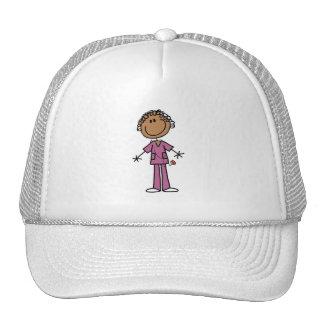 Figura femenina afroamericana enfermera del palill gorra