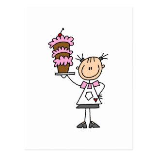 Figura femenina camisetas y regalos del palillo de postal