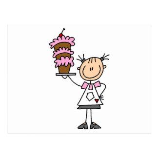 Figura femenina camisetas y regalos del palillo postal