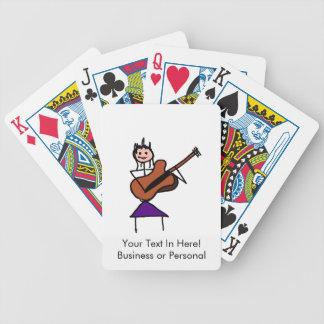 figura femenina cara rosada del palillo de la guit baraja de cartas