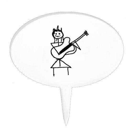 figura femenina del palillo de la guitarra blanco  figuras para tartas