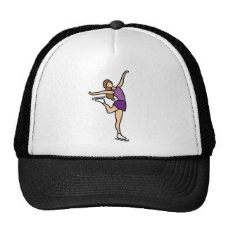 Figura femenina del patinaje de hielo gorras