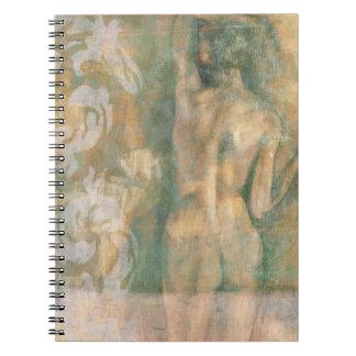 Figura femenina desnuda de Jennifer Goldberger Cuaderno
