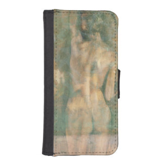 Figura femenina desnuda de Jennifer Goldberger Fundas Billetera De iPhone 5