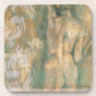 Figura femenina desnuda de Jennifer Goldberger Posavasos De Bebida