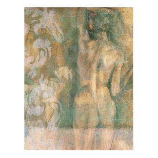 Figura femenina desnuda de Jennifer Goldberger Postales