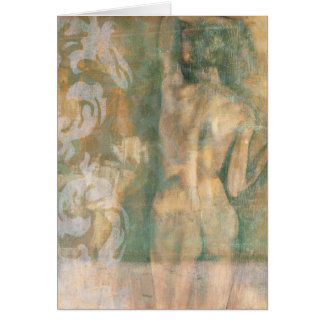 Figura femenina desnuda de Jennifer Goldberger Tarjeta De Felicitación