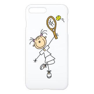Figura femenina jugador de tenis del palillo funda para iPhone 7 plus