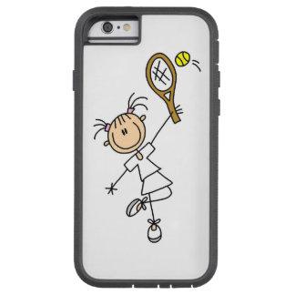 Figura femenina jugador de tenis del palillo funda tough xtreme iPhone 6