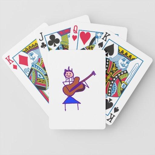 figura femenina púrpura gtr del palillo de la guit cartas de juego