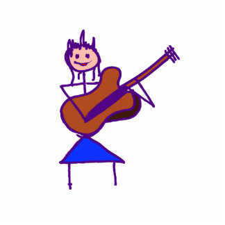 figura femenina púrpura gtr del palillo de la guit esculturas fotograficas