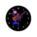 figura femenina púrpura gtr del palillo de la guit reloj