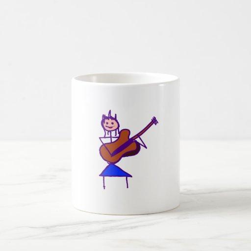 figura femenina púrpura gtr del palillo de la guit taza