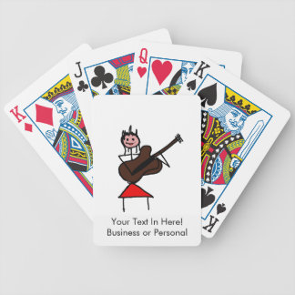 figura femenina rojo rosado del palillo de la guit baraja de cartas
