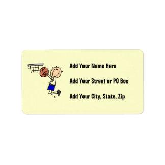 Figura fregadero T-shirs del baloncesto y regalos  Etiqueta De Dirección