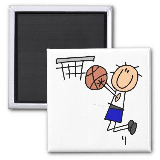 Figura fregadero T-shirs del baloncesto y regalos  Imán Cuadrado